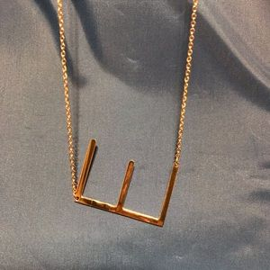 Monogram pendant necklace initial E Anthropologie